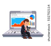 small businessman sitting on a... | Shutterstock .eps vector #532702114