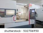 industrial workshop large lathe ... | Shutterstock . vector #532706950