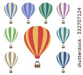 air balloon set  | Shutterstock .eps vector #532707124