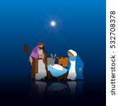 colored manger for christmas... | Shutterstock .eps vector #532708378