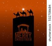 colored manger for christmas... | Shutterstock .eps vector #532708684