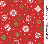 christmas seamless pattern with ... | Shutterstock .eps vector #532709098