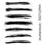 black ink vector brush strokes... | Shutterstock .eps vector #532712944
