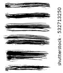 black ink vector brush strokes... | Shutterstock .eps vector #532713250