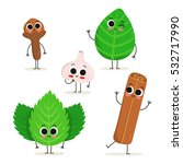 adorable collection of five... | Shutterstock .eps vector #532717990