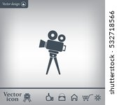 video camera icon vector | Shutterstock .eps vector #532718566