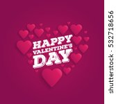 greeting card happy valentine's ... | Shutterstock .eps vector #532718656