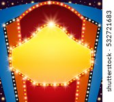 retro stage shining banner...   Shutterstock .eps vector #532721683