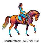 girl riding | Shutterstock .eps vector #532721710