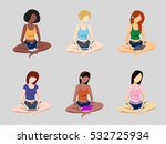 young woman of different... | Shutterstock .eps vector #532725934