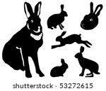 silhouettes of rabbits | Shutterstock .eps vector #53272615