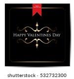 happy valentine's day hand... | Shutterstock .eps vector #532732300