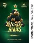 christmas poster or flyer... | Shutterstock .eps vector #532733740
