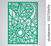 die cut card. laser cut vector... | Shutterstock .eps vector #532735654