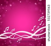 purple music square background   Shutterstock .eps vector #532739563