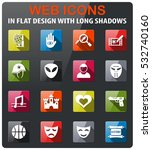 cinema genre icons set in flat... | Shutterstock .eps vector #532740160