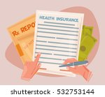 health insurance concept | Shutterstock .eps vector #532753144