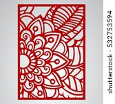 die cut card. laser cut vector... | Shutterstock .eps vector #532753594