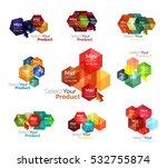 set of hexagon navigation... | Shutterstock .eps vector #532755874