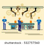 factory production process ... | Shutterstock .eps vector #532757560