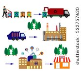 recycling process different... | Shutterstock .eps vector #532757620