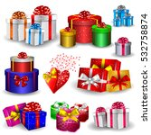 elegant present boxes different ... | Shutterstock .eps vector #532758874