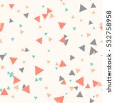 colorful messy triangle... | Shutterstock .eps vector #532758958