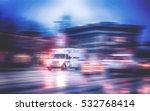 an ambulance racing through the ... | Shutterstock . vector #532768414