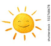 cute cartoon sun. hand drawn... | Shutterstock . vector #532768678