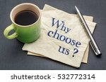 why choose us  handwriting on a ... | Shutterstock . vector #532772314