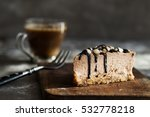 raw chocolate mousse cake  with ... | Shutterstock . vector #532778218