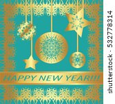 """greeting card """"happy new year  """"...   Shutterstock .eps vector #532778314"""