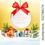 christmas presents with a gift... | Shutterstock .eps vector #532780174