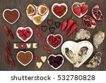 aphrodisiac food for sexual... | Shutterstock . vector #532780828