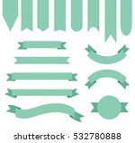 mint green ribbon banner... | Shutterstock .eps vector #532780888