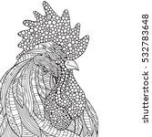 Hand Drawn Rooster. In...