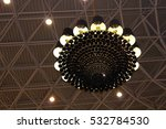 Close Up Of Big Chandelier In A ...