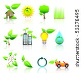 icons   green 2 | Shutterstock .eps vector #53278495