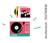 vinyl record player. vector... | Shutterstock .eps vector #532785838