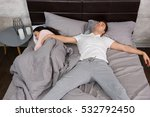 young male sleeping in free... | Shutterstock . vector #532792450
