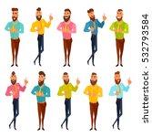 successful bearded men standing.... | Shutterstock .eps vector #532793584