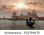venetian gondolier punting... | Shutterstock . vector #532794670