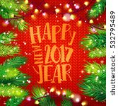 happy new year 2017 card with... | Shutterstock .eps vector #532795489