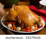whole roasted chicken with... | Shutterstock . vector #53279620