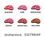 steak doneness vector... | Shutterstock .eps vector #532798549