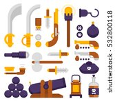 pirate weapons vector big set... | Shutterstock .eps vector #532800118