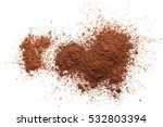 pile cocoa powder isolated on... | Shutterstock . vector #532803394