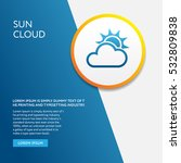 info board with weather symbol... | Shutterstock .eps vector #532809838