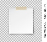 office paper sheet pin on... | Shutterstock .eps vector #532810324
