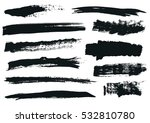 set of black paint  ink brush... | Shutterstock .eps vector #532810780